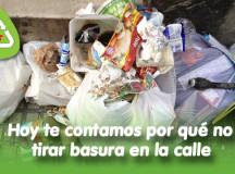 Hoy te contamos por qué no tirar basura en la calle